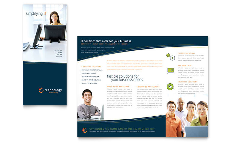 Best Free Brochure Templates FeedTip - Technology brochure template