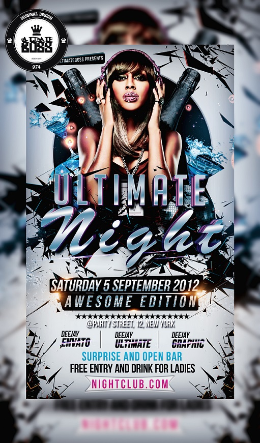 Ultimate night flyer template