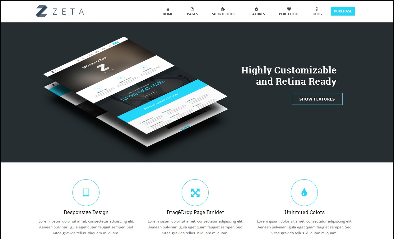 Zeta WordPress Theme