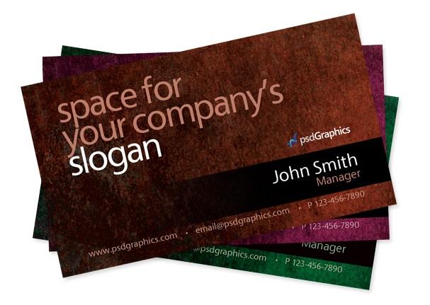 grunge business card template