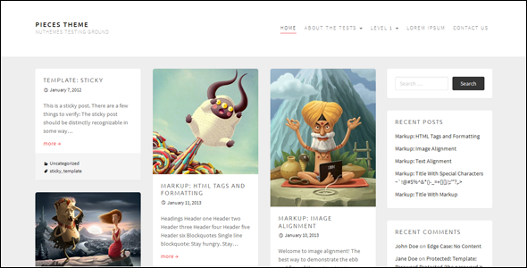 pieces wordpress theme