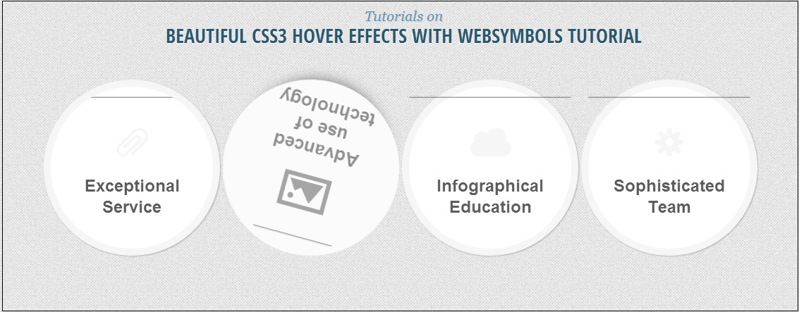 CSS3 HOVER EFFECTS WITH WEBSYMBOLS
