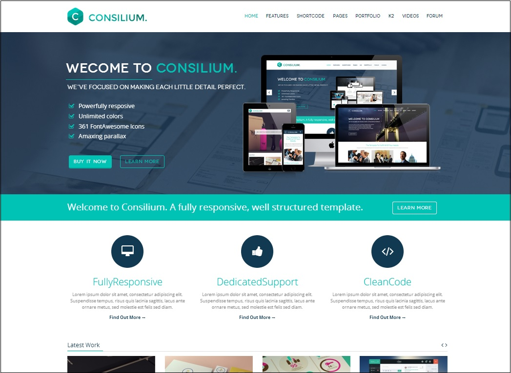 36 best responsive html5 website templates feedtip An website
