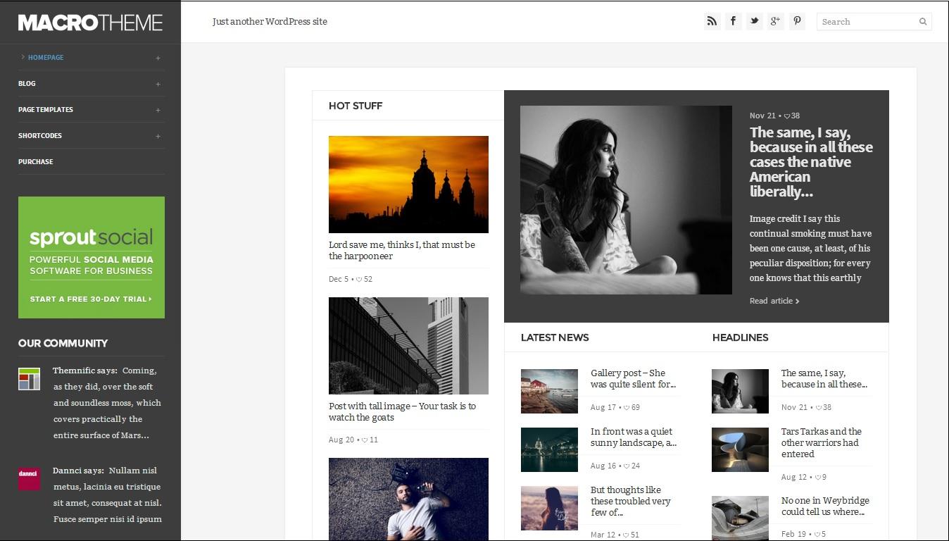 34 Amazing Personal Blogging WordPress Themes - FeedTip