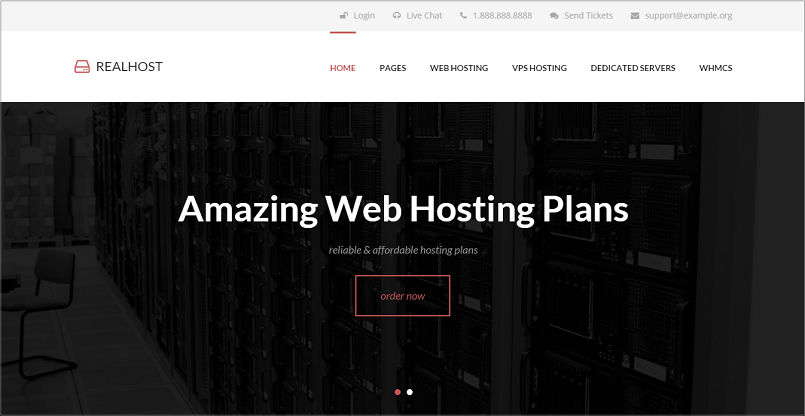 Realhost WordPress Theme