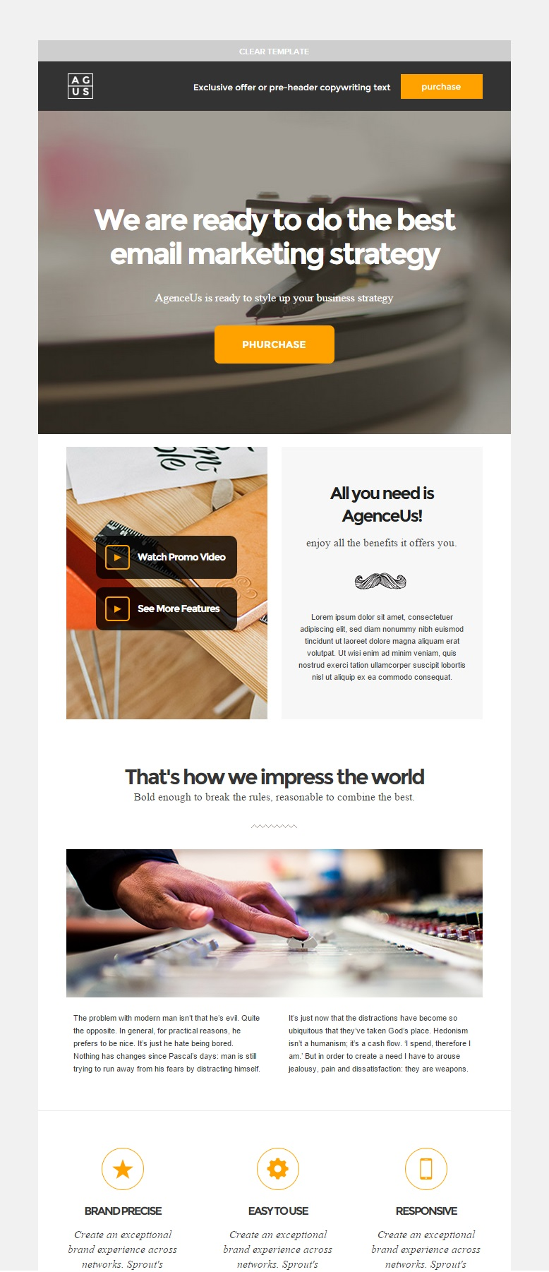 AgenceUs responsive email template