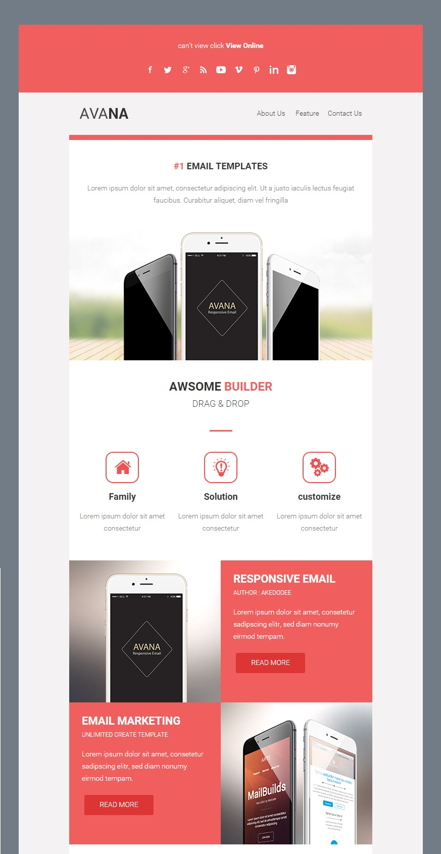 Avana Responsive Email Template