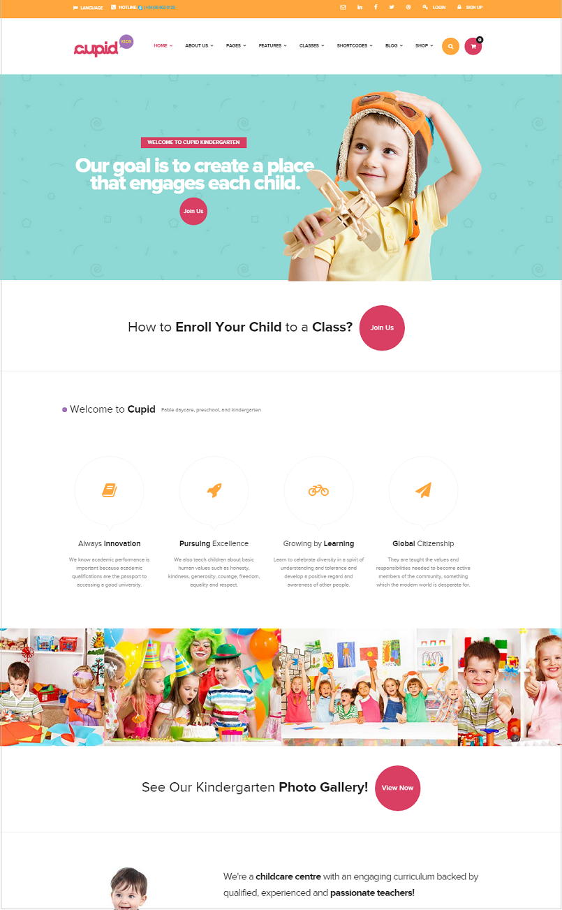 cupid education wordpress theme