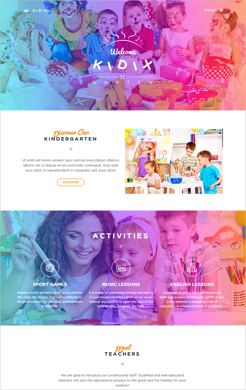Kidix Education WordPress Theme