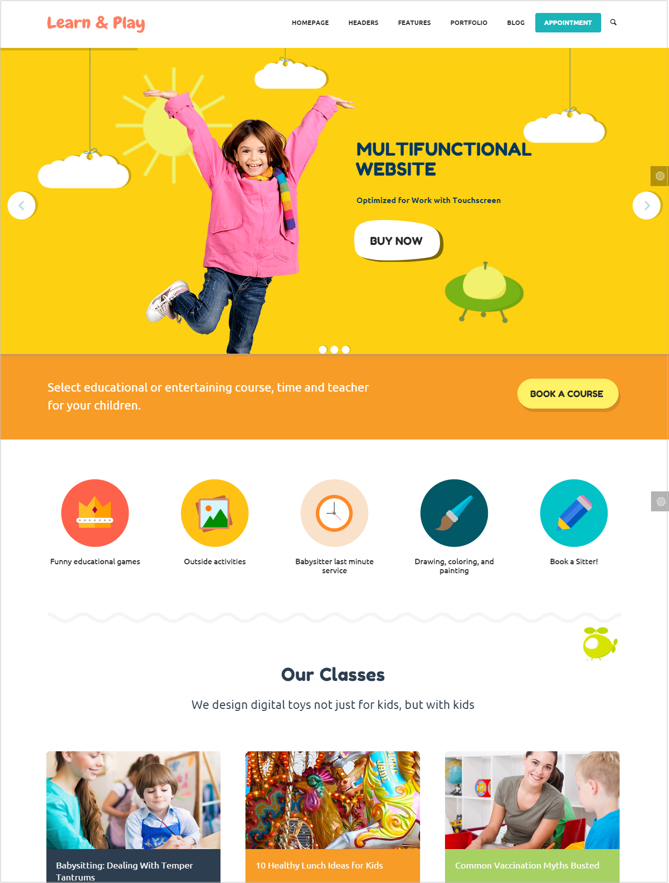 Kids Care education wordpress theme