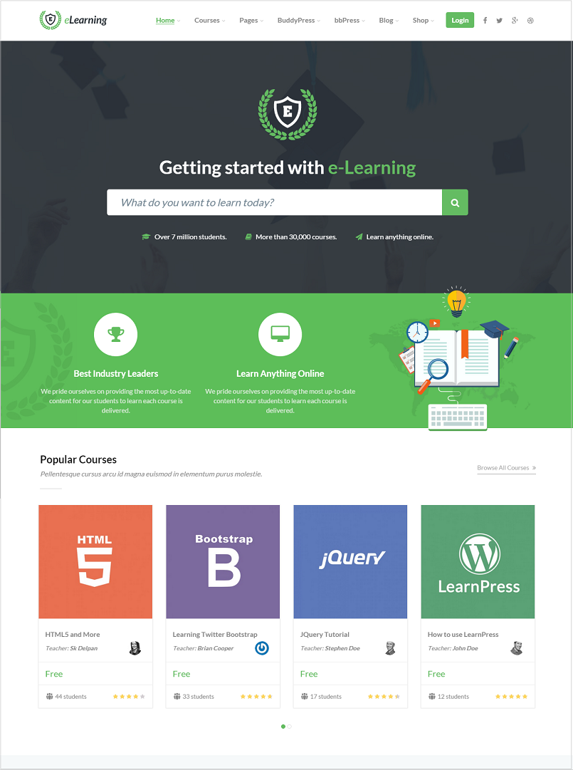 LMS Education WordPress Theme