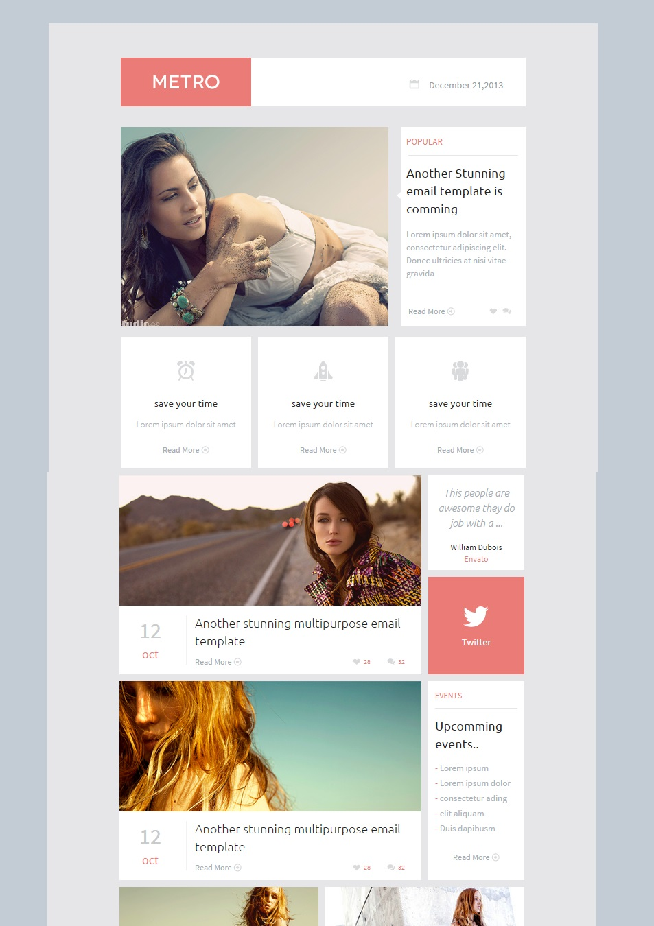Metro Responsive Email Template