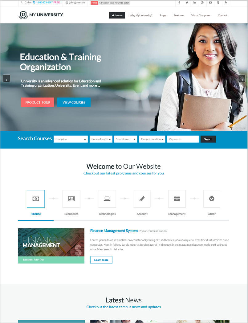 My University Education WordPress Theme