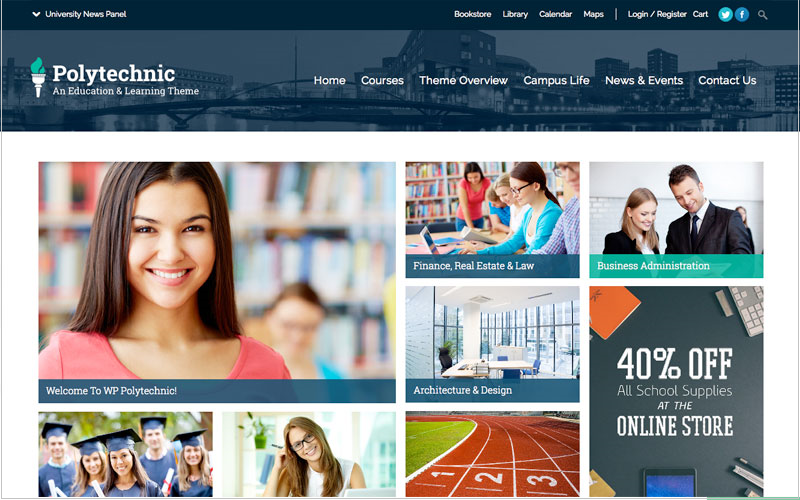 Polytechnic Education WordPress Theme
