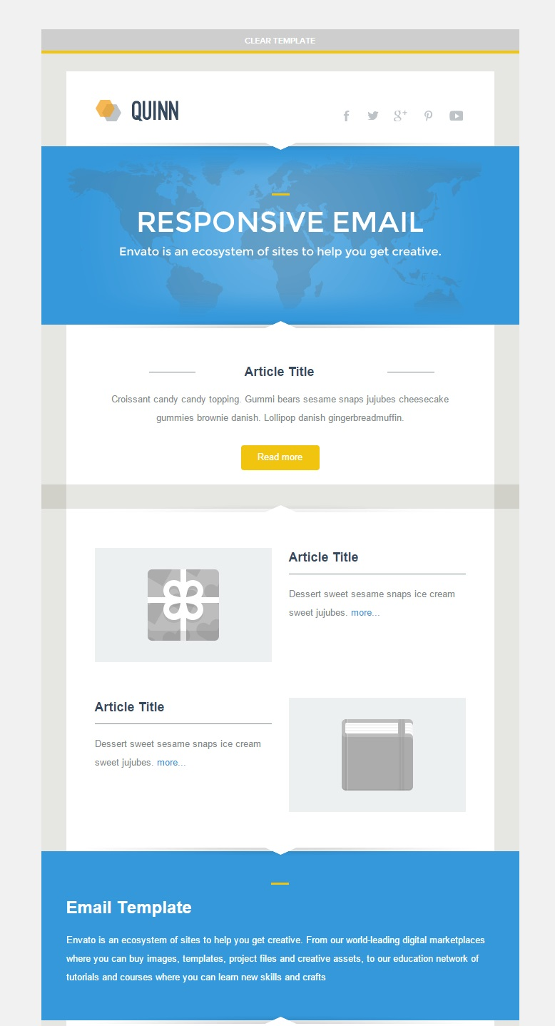 what is a responsive template - 30 best newsletter email templates feedtip