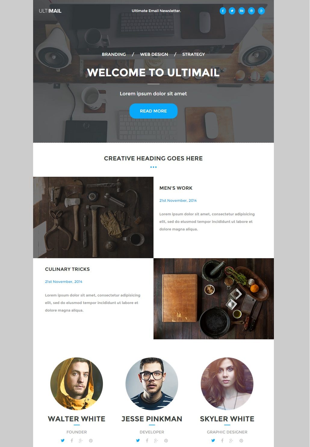 UltiMail Responsive Email Template