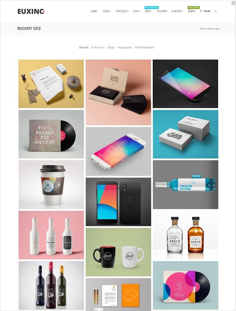 Euxino wordpress theme