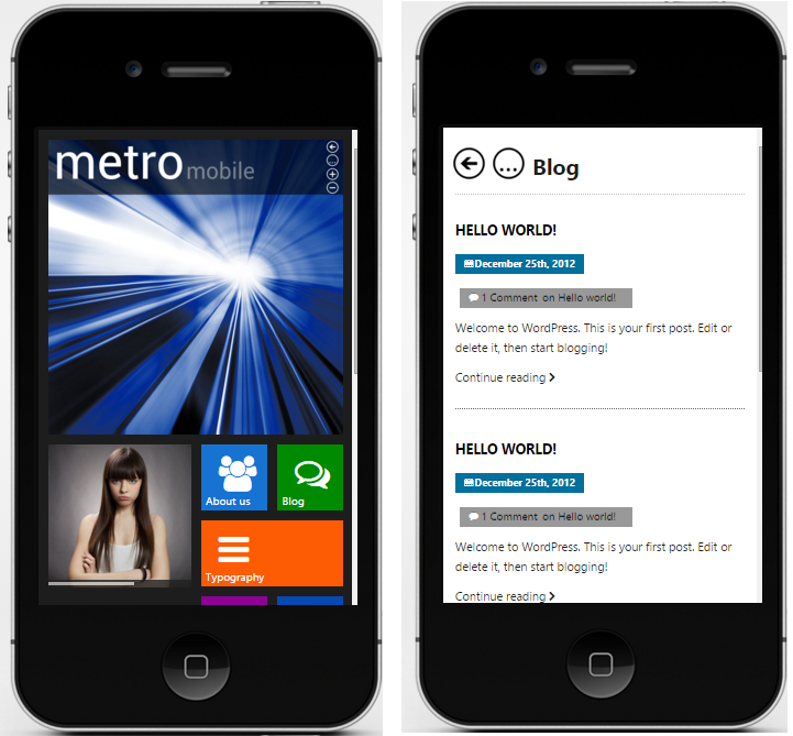 Metro Mobile wordpress theme