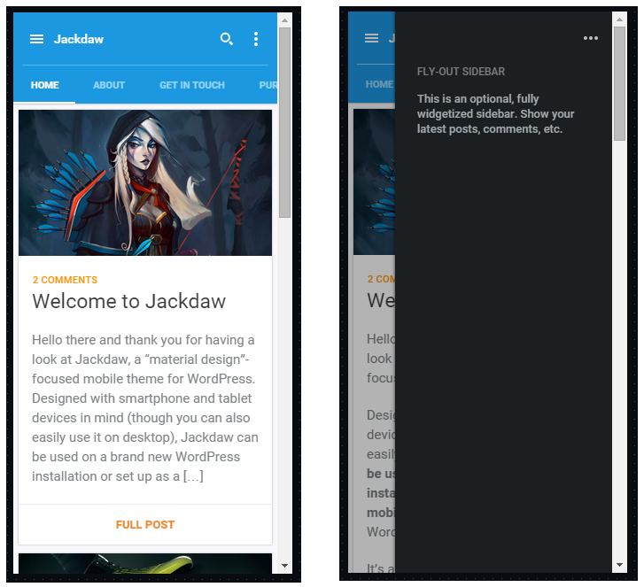 jackdaw mobile wordpress theme