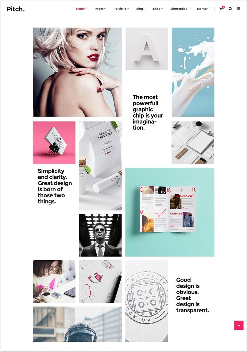 pitch wordpress theme