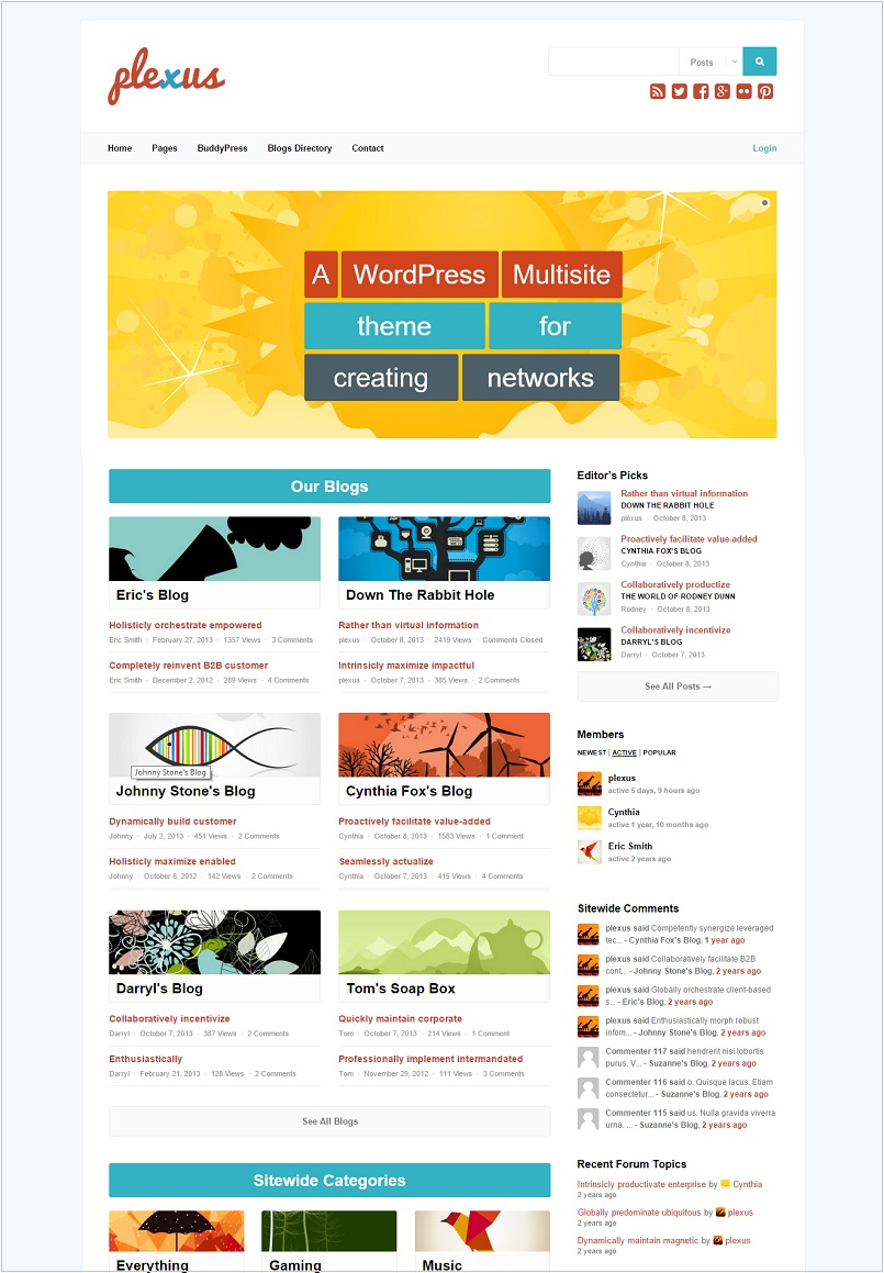 plexus wordpress theme