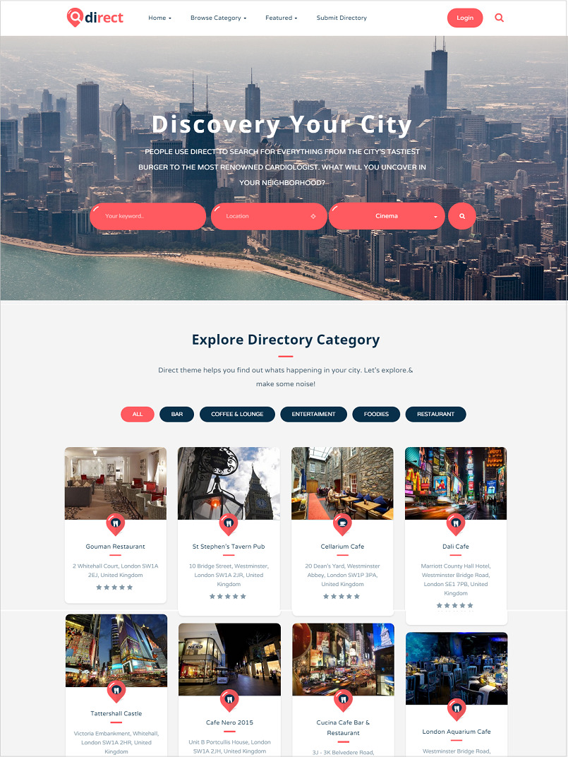 pro direct wordpress directory theme