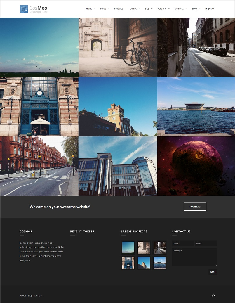 Cosmos portfolio wordpress theme