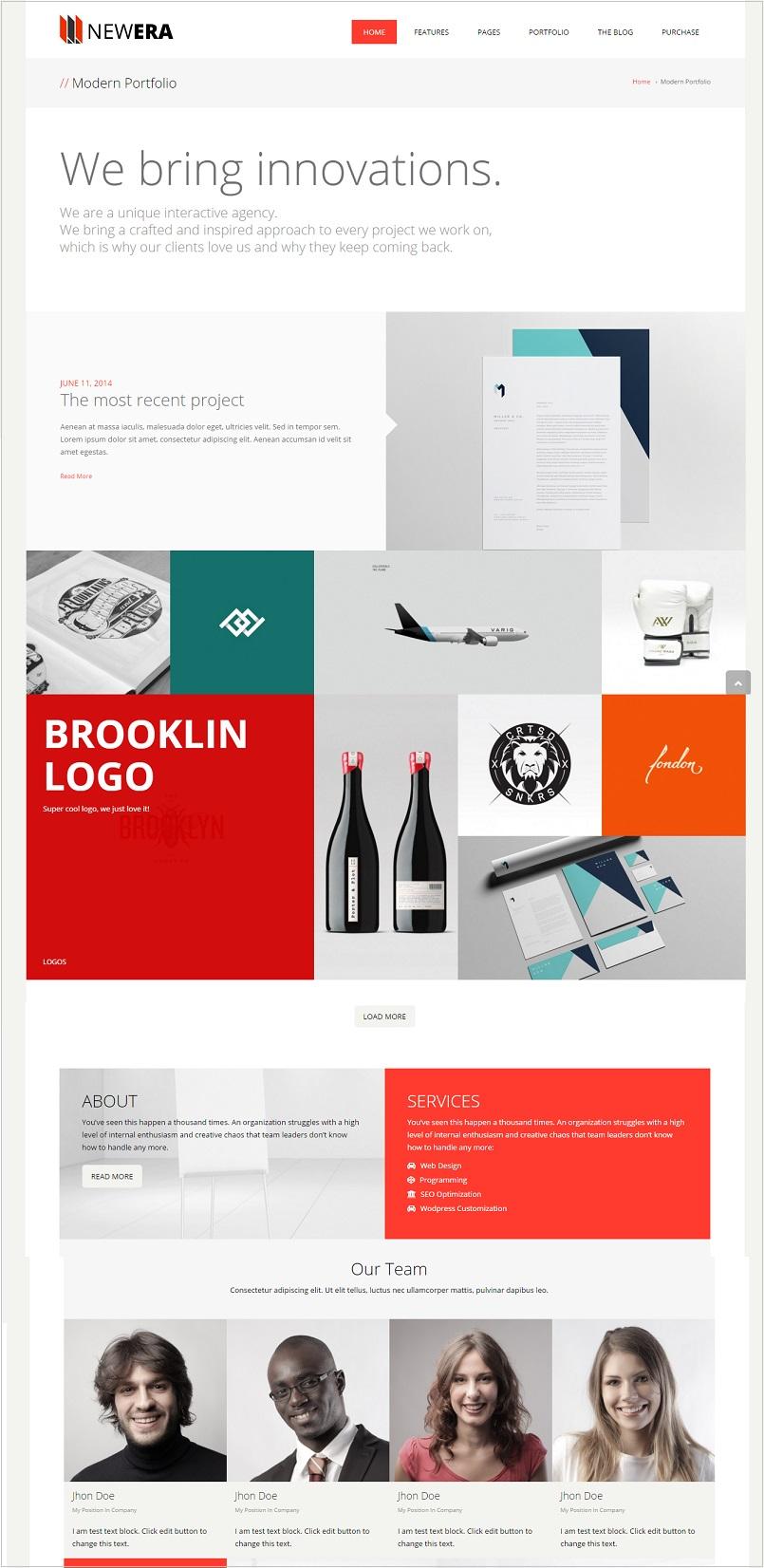 Newera wordpress theme