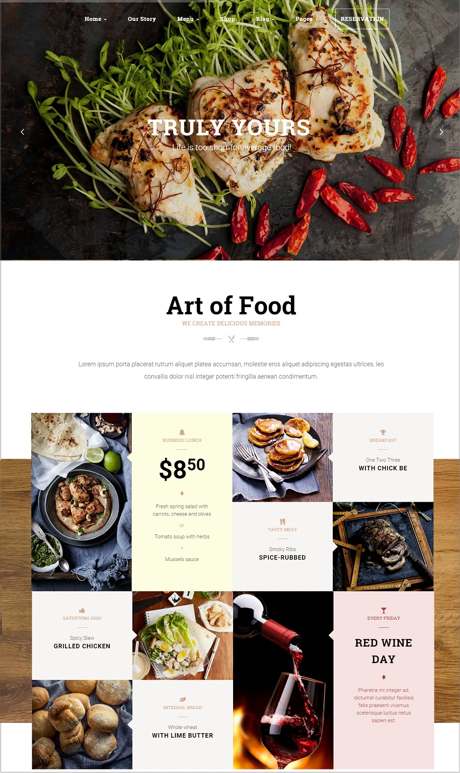 HG restaurant wordpress theme