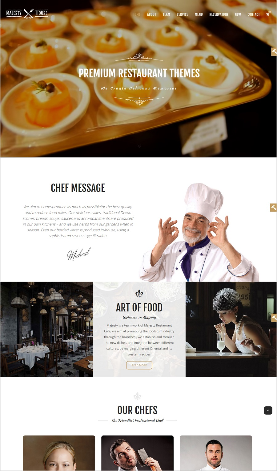 majesty restaurant wordpress theme