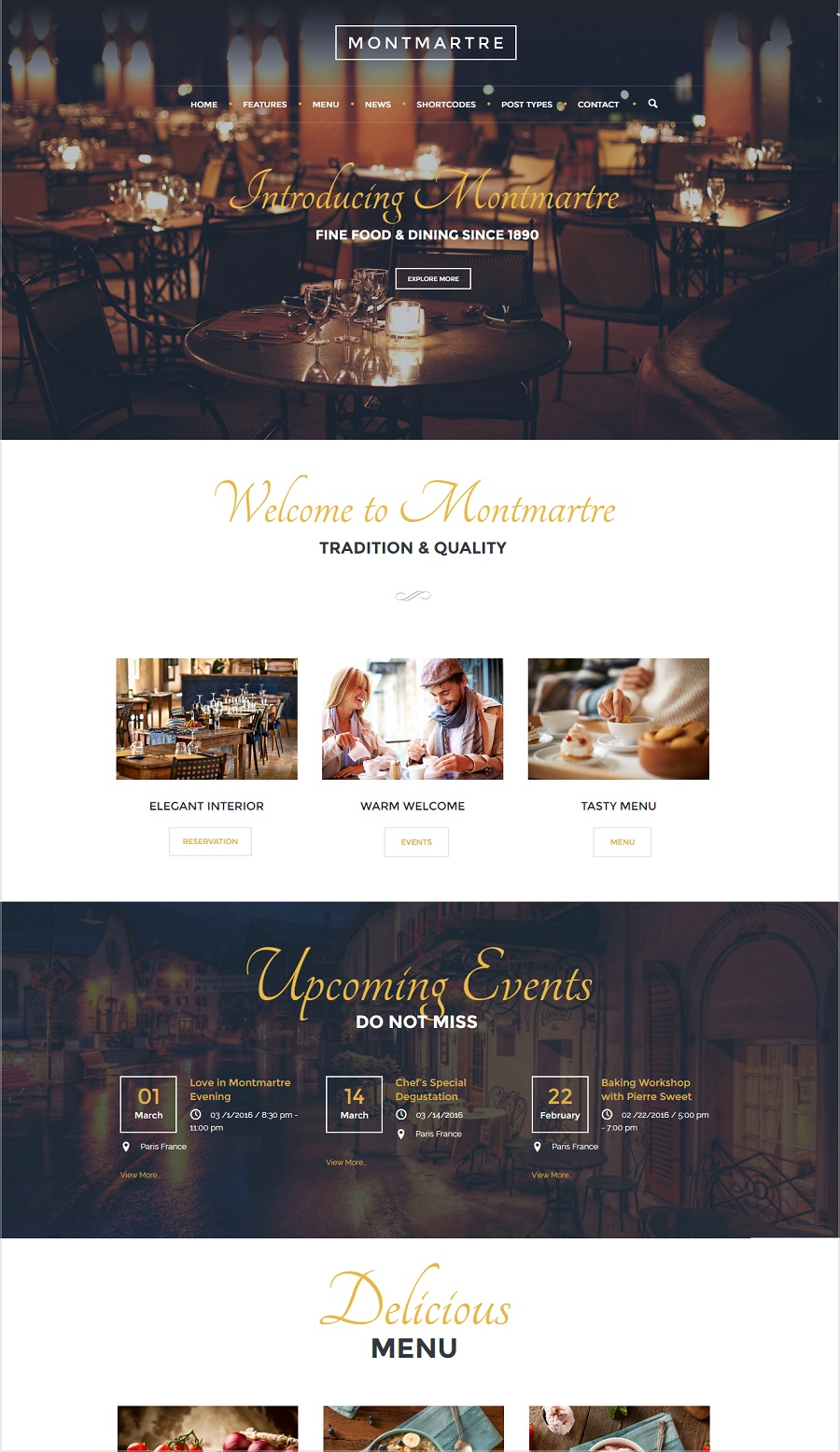montmartre restaurant wordpress theme