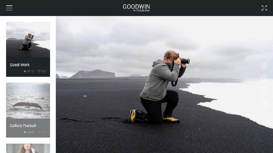 Goodwin Photography wordpress theme
