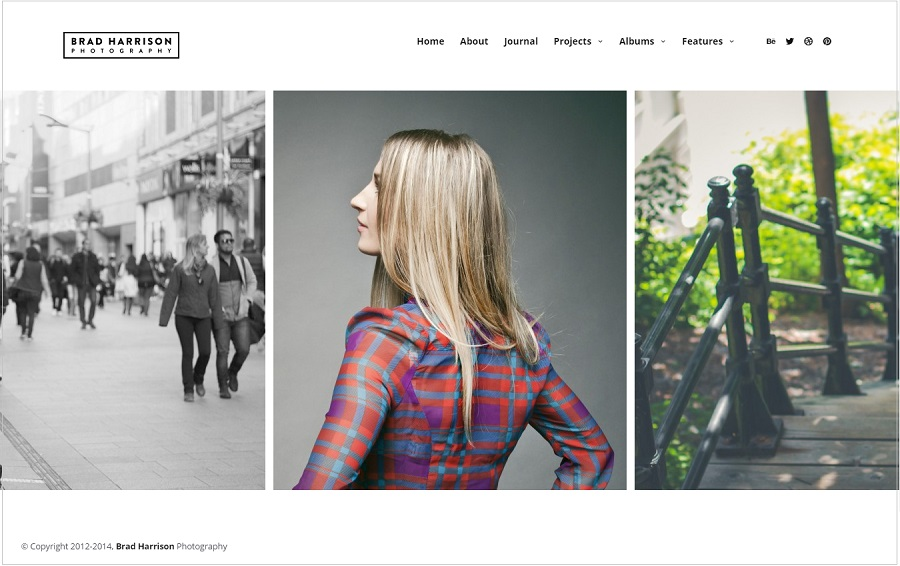 Superba photographer wordpress theme